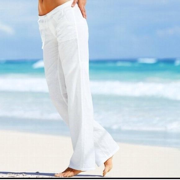 3c9fe85c3c just livin Swim   White Linen Beach Pants   Poshmark